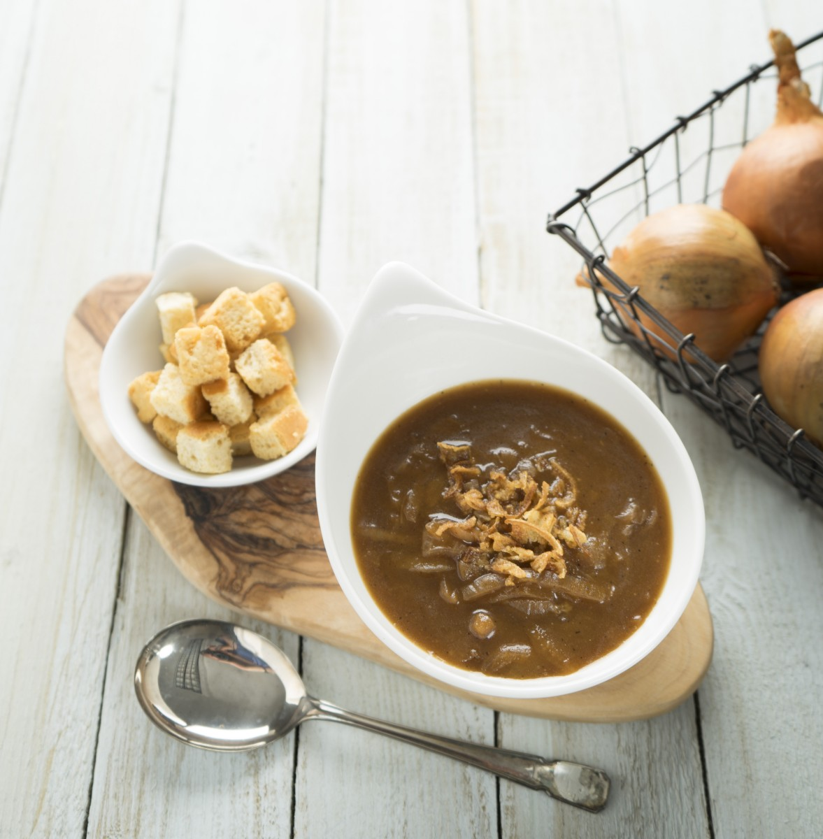New French Onion Soup Scoops Prestigious Q Award